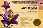 Диплом участника V юбилейного международного форума профессионалов ногтевой индустрии 2006