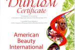 Диплом за участие в Конгрессе индустрии красоты «Estet Beauty Expo 2013»